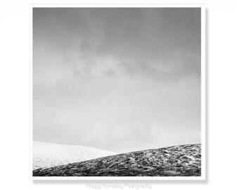 Rannoch Moor, Scotland Art Print, Gift for Men, Scotland Photography, Minimalist Art, Office Decor, Art for Office