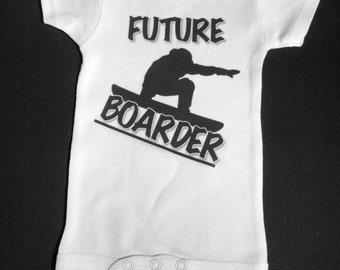 Future Boarder shirt or one piece snowboarding sports athlete novelty sports