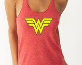 Wonder Woman Shirt Running Tank Wonder Woman    Marathon Eco Tank Wonder Woman Half Marathon Tank Wonder Woman Shirt