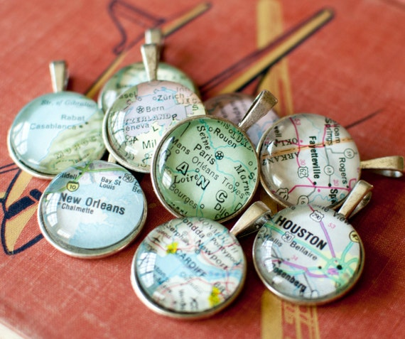 Personalized map pendant travel gifts for women by for Good gifts for a traveler