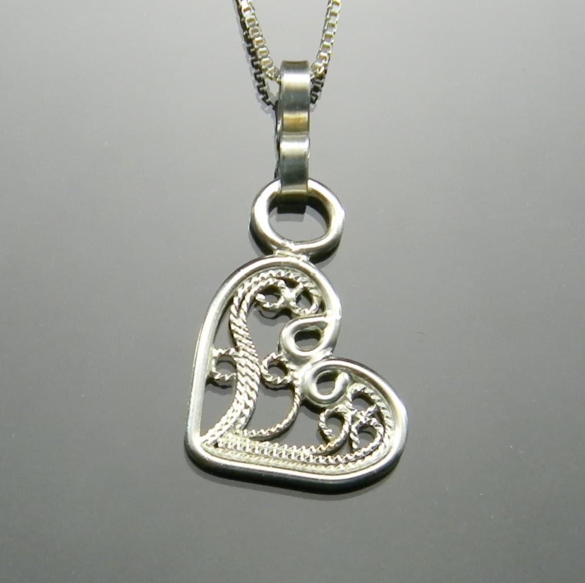 silver filigree pendant sterling silver handmade