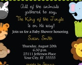 Baby Jungle Animals Baby Shower Invitation