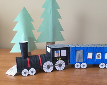 3D Paper Train: Instant Download Template