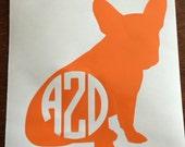 Custom Dog/Pet Monogram Decal - Personalized Monogram Sticker for Car, Cup or Laptop, etc!