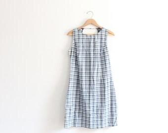 Plaid 90s Open Back Mini Dress