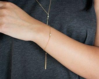Delicate CZ Gold Bracelet, Simple Bracelet, Cubic Zirconia Bracelet, Delicate Silver Bracelet, Rose Gold Bracelet, Everyday Bracelet