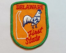 """Vintage 70's Travel Souvenir, Voyager Patch from """"Delaware"""""""