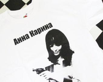 Soviet Lolita ANNA KARINA Russian Poster T-shirt