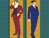 Ace Attorney Bookmark – Phoenix Wright – Miles Edgeworth – Objection bookmark