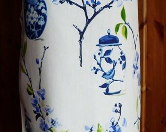 full length apron - ginger jars print