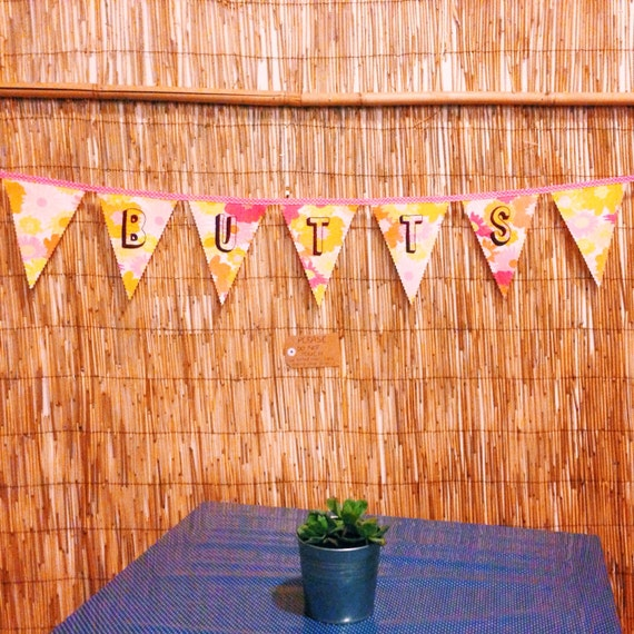 Embroidered Bunting: Butts