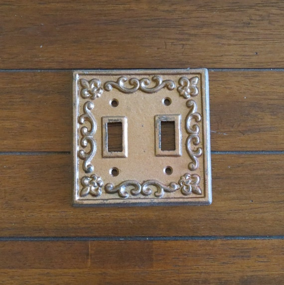 Light switch plate cast iron double light by veritasinspired - Wrought iron switch plate covers ...