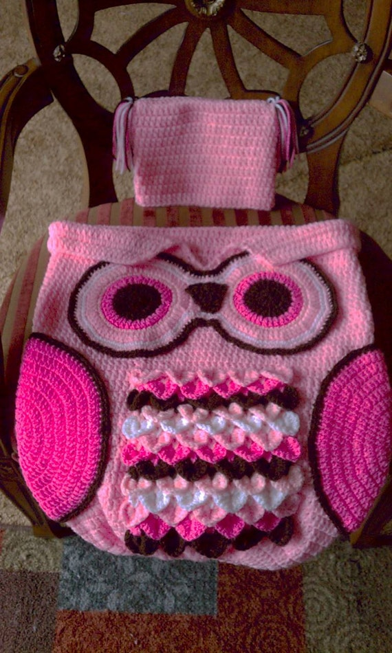 Crochet Owl Baby Cocoon : Clutches & Evening Bags Crossbody Bags Hobo Bags Shoulder Bags Top ...