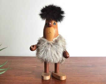 Flintstones 1960's Arne Basse Modern Danish Teak figurine