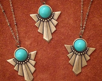Hidden Treasure // Boho Necklace // Indie Necklace // Tribal Necklace // Native American // Aztec Necklace // Turquoise Necklace // Mayan