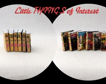 6 The HARDY BOYS BOOKS Miniature Book Dollhouse 1:12 Scale Prop Books Fill A Bookcase Faux Books
