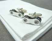 Shimano Ultegra Sterling Silver Bicycle Chain Cufflinks