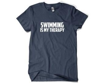 Swimmer Shirt-Swimming is My Theraphy Swimming Shirt Swimmer Gift