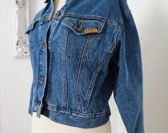 JACKET and SWEATER SALE / Vintage Jordache Denim Cropped Jacket Women Sz Large