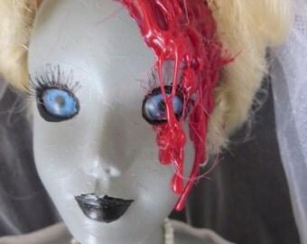 Mutant Zombie Bride- creepy, bloody, Halloween, cinderella