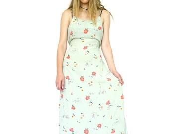 Vintage 90s Grunge Floral Maxi Dress