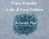 Atlantic Blue 5.5 oz. Fairy Garden Beach Pebbles - Fairy Lake Pond Stones Water Gravel Miniature Fairy Garden Accessories & Supplies