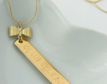 personal jewelry, Positive Thinking necklace, Hebrew, every day from the beginning.