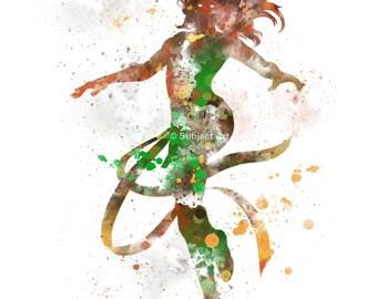 Phoenix, X-Men ART PRINT illustration, Jean Grey, Superhero, Home Decor, Wall Art, Marvel