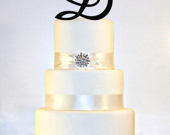 6 inch Monogram Cake Topper