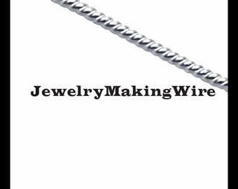 Sterling Silver Twisted Wire, Round Pattern Wire, Dead Soft, 6 Gauge, 8 Gauge, 10 Gauge, 12 Gauge, 14 Gauge, 16 Gauge, 18 Gauge, 20