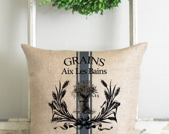 Burlap Collection_Grains 20 x 20 Pillow Cover // Fall // Thanksgiving // Home Decor // Cushion // Throw Pillow // Gift // Present