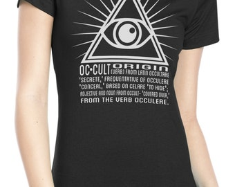 Ladies' Occult Etymology T shirt
