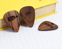 unique wood guitar picks related items etsy. Black Bedroom Furniture Sets. Home Design Ideas
