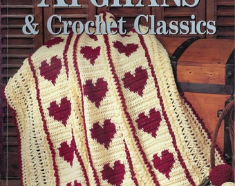 Afghans and Crochet Classics by Red Heart Yarn Staff