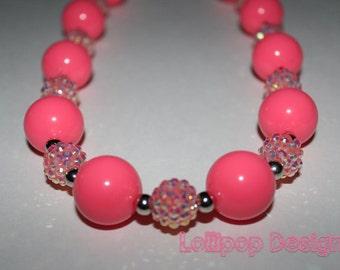 Pink Flair Gumball Necklace