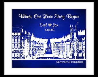 This Is How Our Love Story Begins: ANY Area Custom Wedding Anniversary Engagement Bridal Shower Gift Where It all began Poster Giclee Print