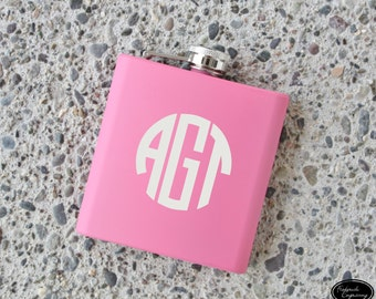 SHIPS FAST, Personalized Flask, Monogram Flask, Custom Flask, Flask for Women, Womens Flask, Bridesmaid Gift Flask, Bachelorette Gift