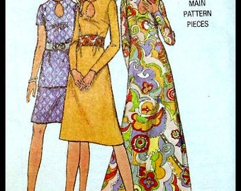"""Butterick 6148  Misses' One Piece Or Two Piece Dress Size 14 Bust 36"""""""