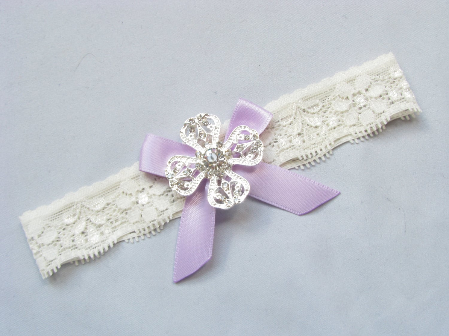 lavender wedding garter purple toss garter crystal
