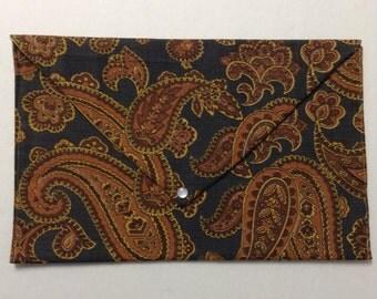 Paisley Envelope Clutch in Autumn Colors