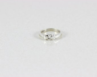 Sterling Silver Heart Ring size 3 1/4