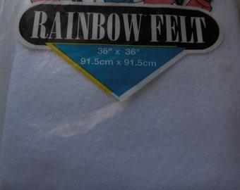 Kunin Rainbow Felt 36x36 White