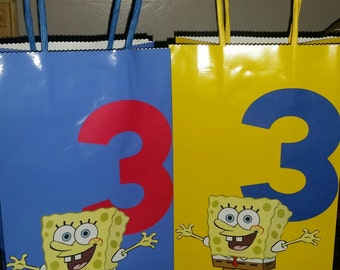 Custom Spongebob Party Favor Bags Set of 12