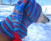 Dog hats-CUSTOM ORDER HAT/hand knit dog hat/greyhound hats/shepherd hat/dog warm neck/yorkie hat/dog hat/pet accessories