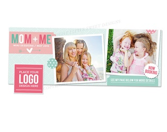 Mothers Day Facebook Timeline Cover - Photoshop Template for photographers (FBTL13) - INSTANT DOWNLOAD