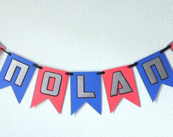 Transformers Optimus Prime Inspired Name Banner-Name up to 6 letters