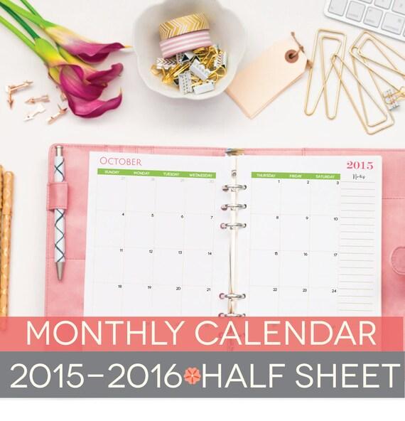 Weekly Calendar Half Sheet : Printable calendar half sheets by