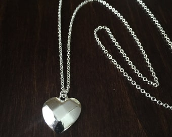 heart necklace, silver heart necklace, heart, silver heart, heart jewelry, silver necklace, necklace