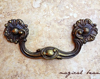 victorian furniture pulls french country dresser drop bail pull antique brass drawer pulls handles keeler brass - Decorative Drawer Pulls