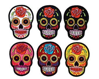 Skull Patch - Sugar Skull Patch /Skull Iron on Patch / Skull Embroidered Iron on Patch